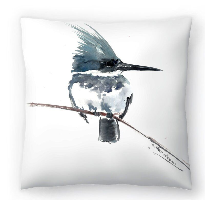 Belted Kingfisher 3 Throw Pillow Throw Pillows Pillows Kingfisher