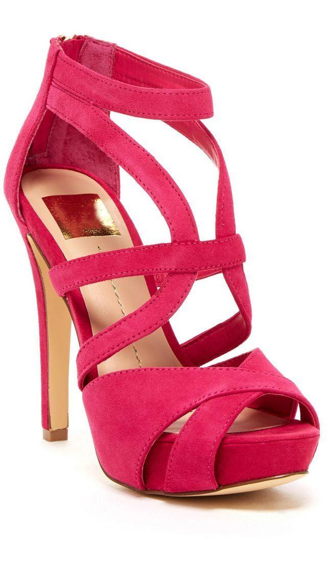 9df089cecc3 Fuschia Cutout Heels