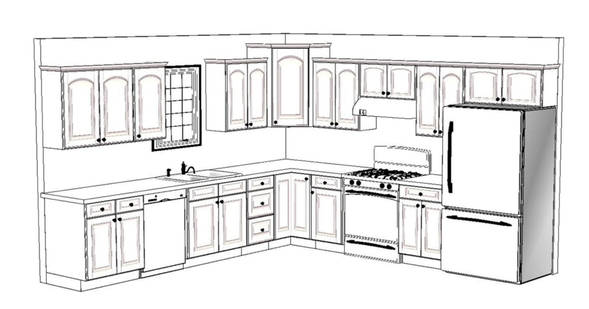 x kitchen floor plan layout ki on l shaped kitchen design