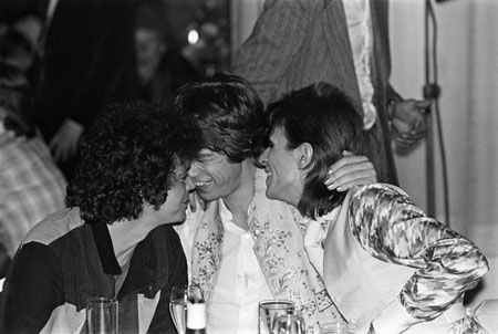 Lou Reed with Mick Jagger and David Bowie - 1973