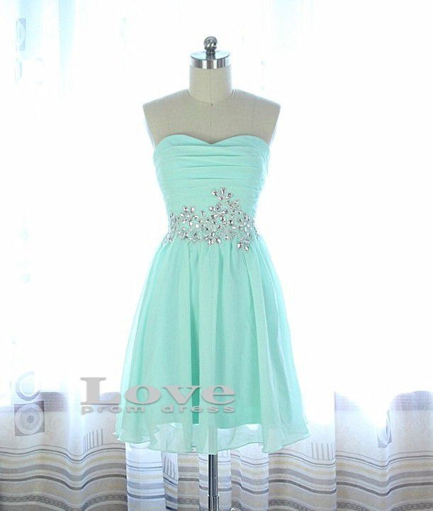 cheap light blue strapless short prom dress homecoming