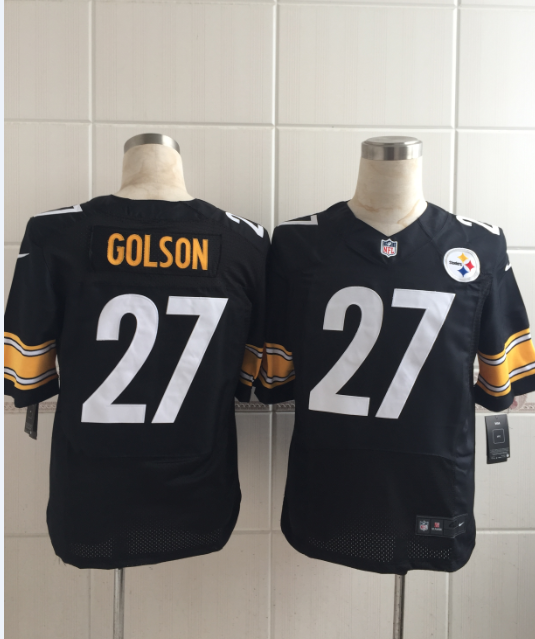 quality design 286e5 12754 Pittsburgh Steelers #27 Senquez Golson Black Elite Jersey ...