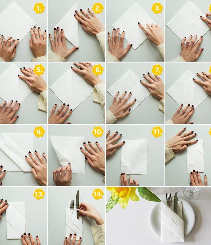 Servietten falten » 15 Anleitungen und Videos | OTTO #serviettenfalteneinfach