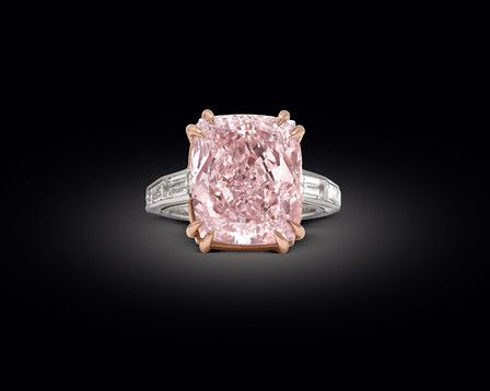 Cartier 12 27 Carat Cushion Cut Pink Diamond