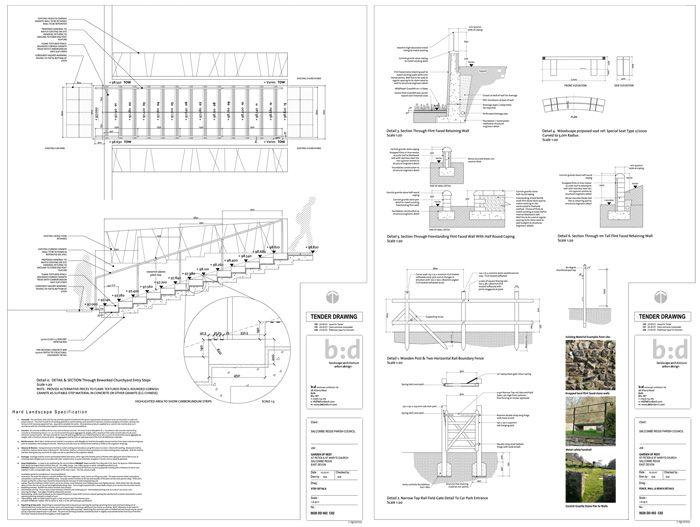 Design development of Tender drawings | materials & details | Design