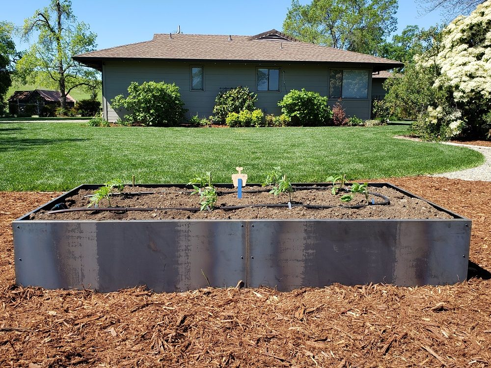 Cor Ten Steel Garden Bed Fabricated By Nice Planter Llc Dimensions 8 X4 X16 High Expandable In 4 Foot Sect Corten Steel Planters Garden Beds Corten Steel