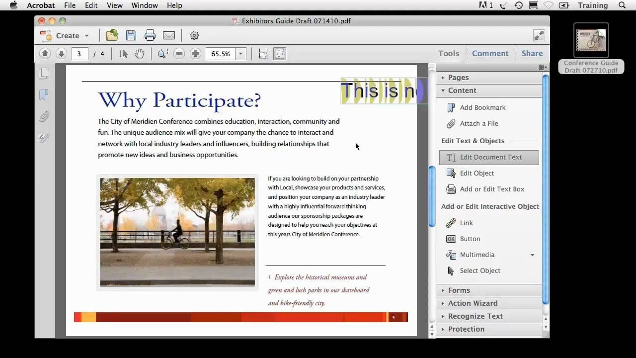 Getting Started The Basics of Editing a PDF Document
