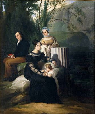 Francesco Hayez, Teresa Borri Stampa with his mother, his brother and his son Stefano, 1822