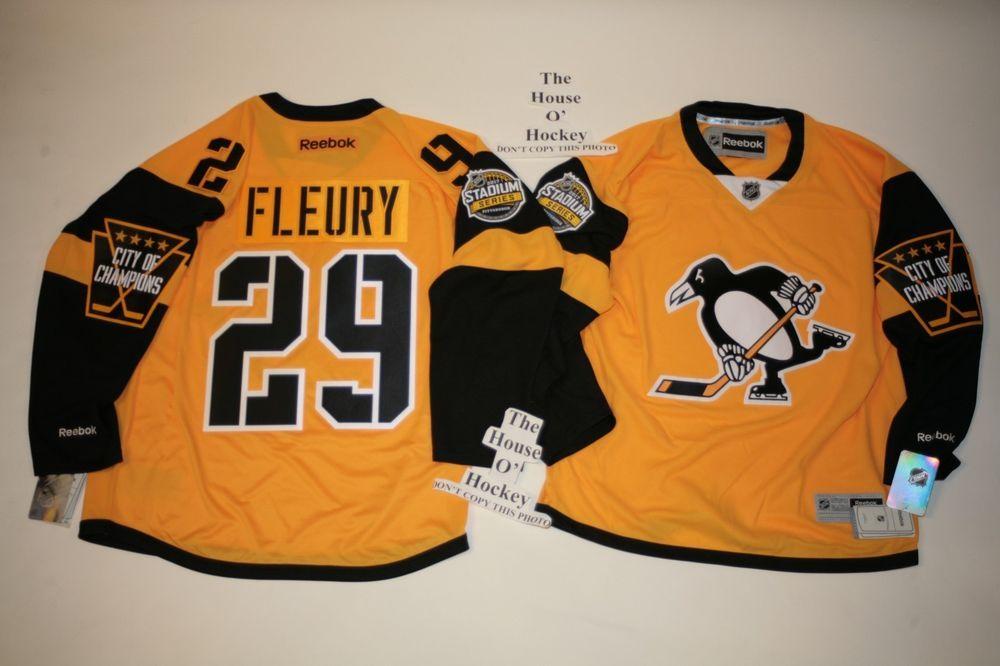 Marc Andre Fleury Pittsburgh Penguins Reebok 2017 Stadium Series Premier  Jersey  Reebok  PittsburghPenguins 78a613875