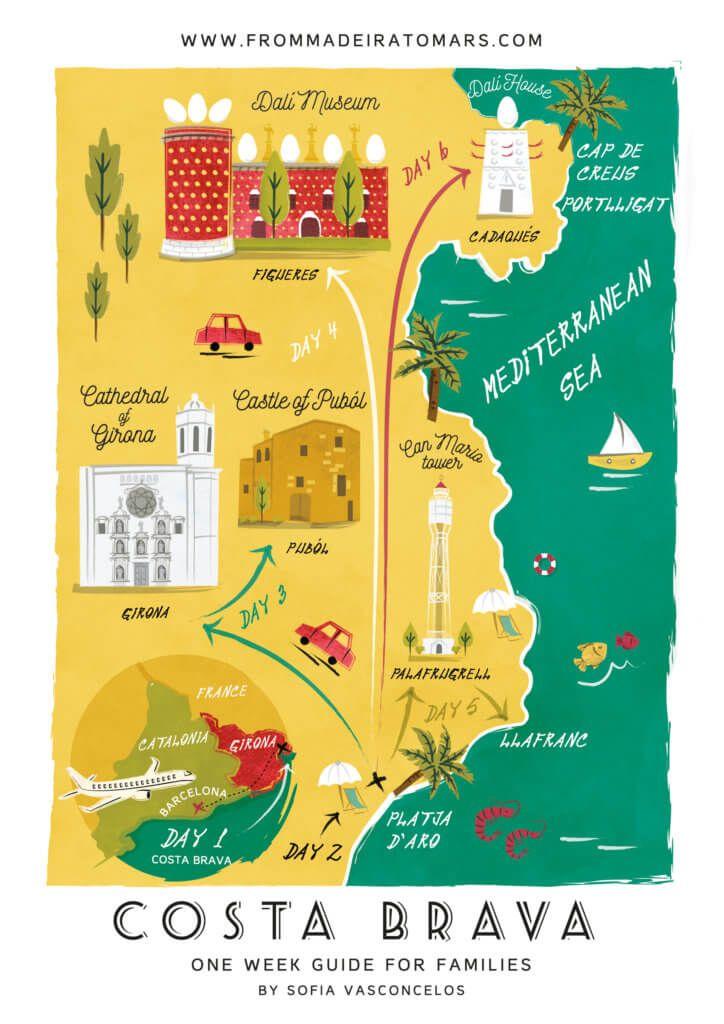Costa Brava Espana Mapa.One Week In Costa Brava A Guide For Families Costa Brava Espana Viajar Por Espana Barcelona Espana