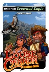 Microgaming has released 2 thrilling games in this month Untamed Crowned Eagle and Loose Cannon Slots  - http://www.rtgbonus.eu/no-deposit-blog/2014/microgaming-released-2-thrilling-games-month-untamed-crowned-eagle-loose-cannon-slots/