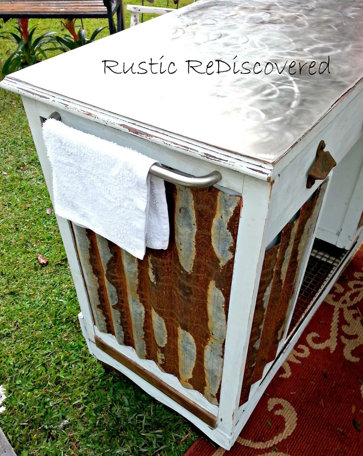 turning a dumpster desk into a kitchen island your funky junk a rh pinterest cl