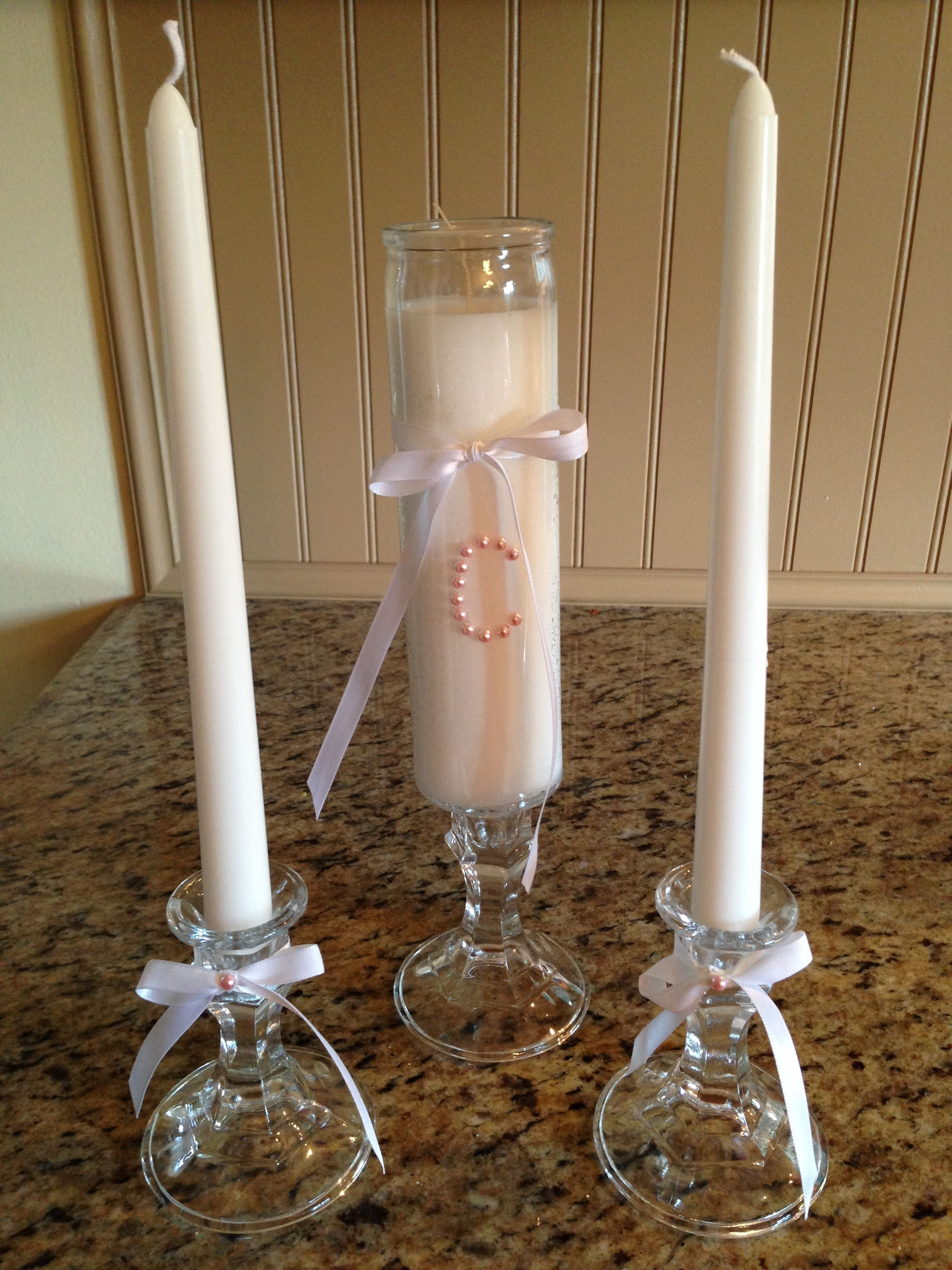 Diy Unity Candle 600 Candles And Holders From Dollar Tree Hot