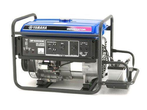 Yamaha Ef4000de 4 000 Watt 251cc Ohv 4 Stroke Gas Powered Portable Generator With Elect Portable Generator Portable Inverter Generator Portable Power Generator