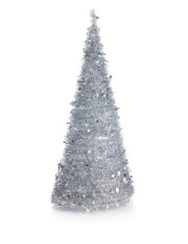 6ft Silver Tinsel Instant Pre-Lit Tree - Marks & Spencer - 6ft Silver Tinsel Instant Pre-Lit Tree - Marks & Spencer Stuff To