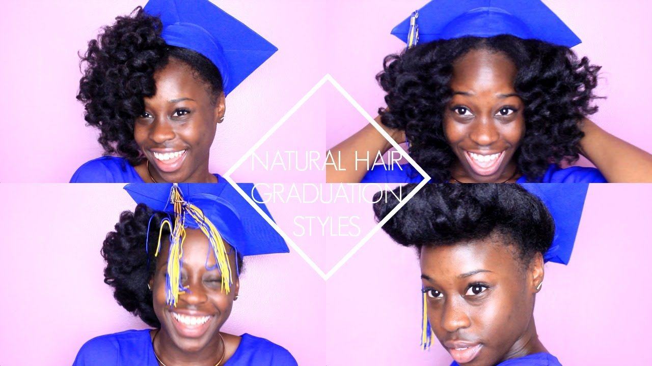 Natural Hair Graduation Styles With Images Graduation