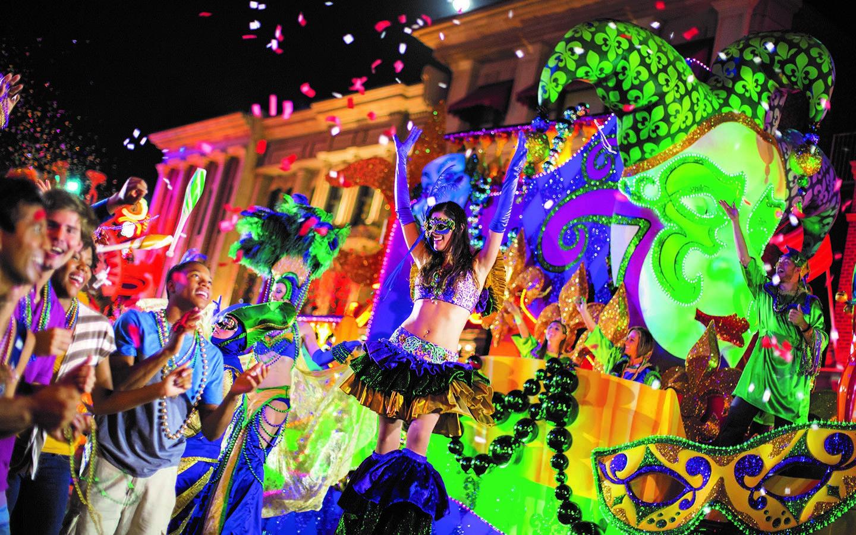 Carros alegoricos do Mardi Gras
