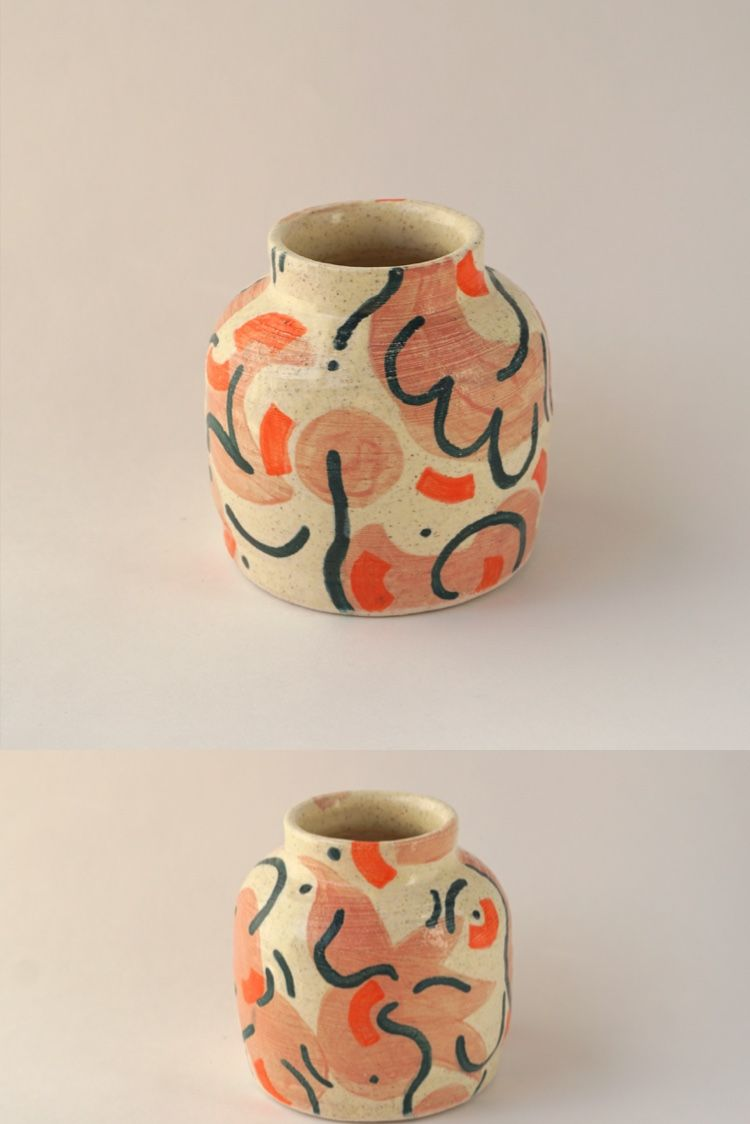Frolick away and bring home your buds to this sweet lil vase. Hand made and hand painted with love from www.etsy.com/shop/fireworksceramics   #pottery #ceramics #contemporary #boho #homedecor #budvase #vase #wheelthrown #contemporaryceramics #giftideas