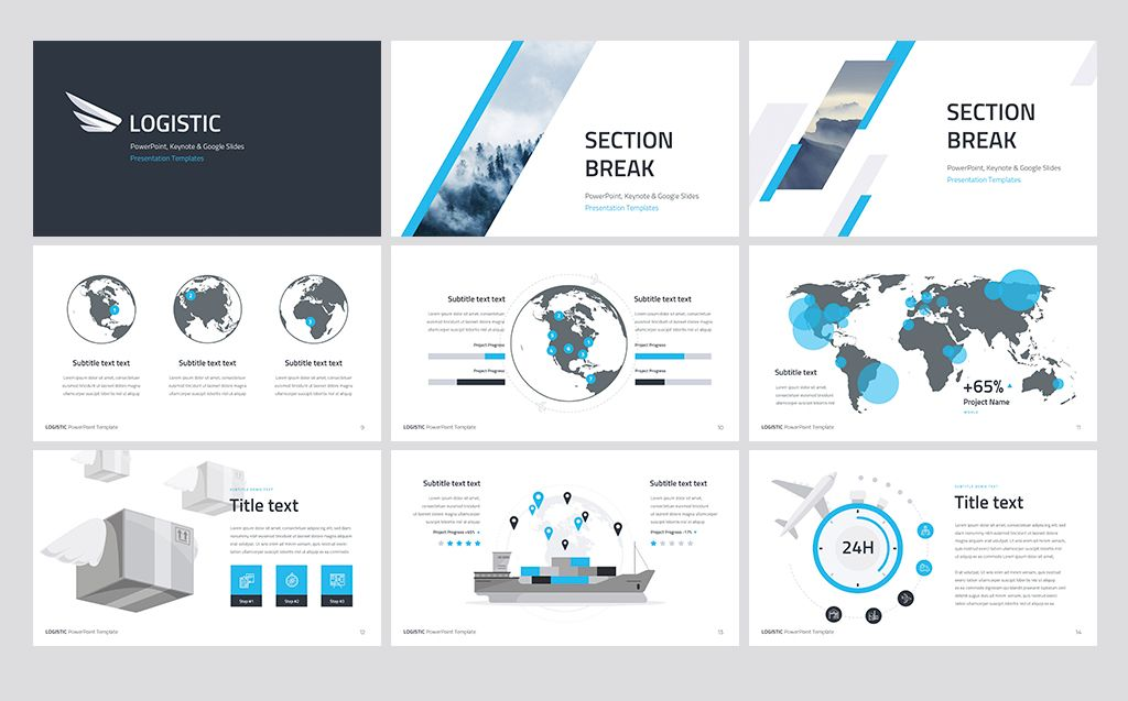 Logistic PowerPoint Template #71990 | apple game | Keynote