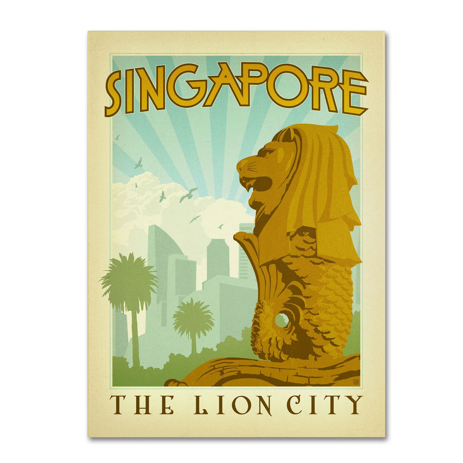 Singapore by Anderson Design Group Graphic Art Gallery Wrapped on Canvas