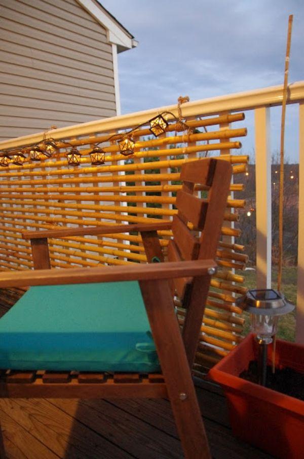 Bambus Sichtschutz auf dem Balkon bauen Deko Ideen für