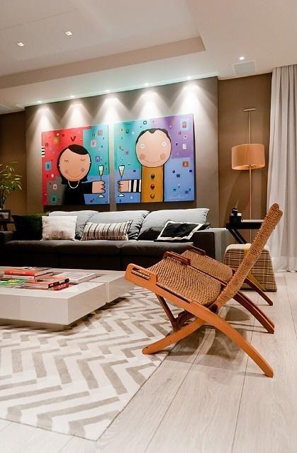 30 ideias geniais para seus quadros na parede ficarem ainda mais bonitos bonito paredes e salas. Black Bedroom Furniture Sets. Home Design Ideas