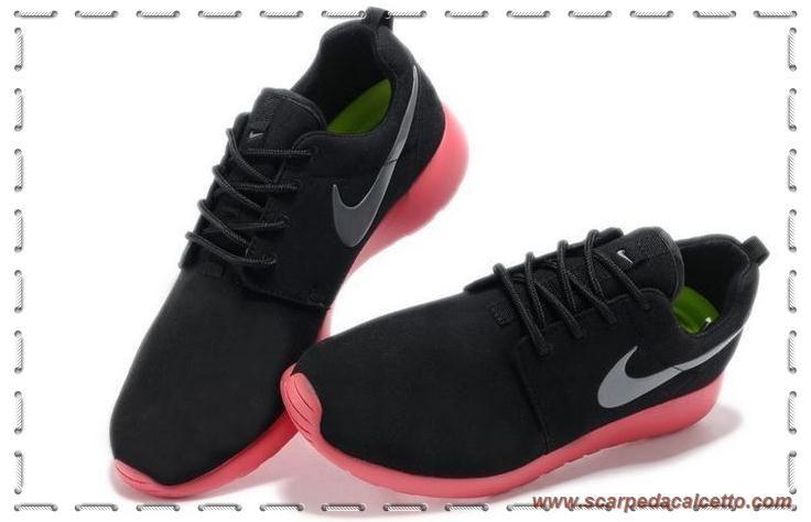 the best attitude aa03d 35da3 511881-016 Nero Coal Nero Rosso Nike Roshe Run Uomo-Donna scarpe da  calcetto migliori