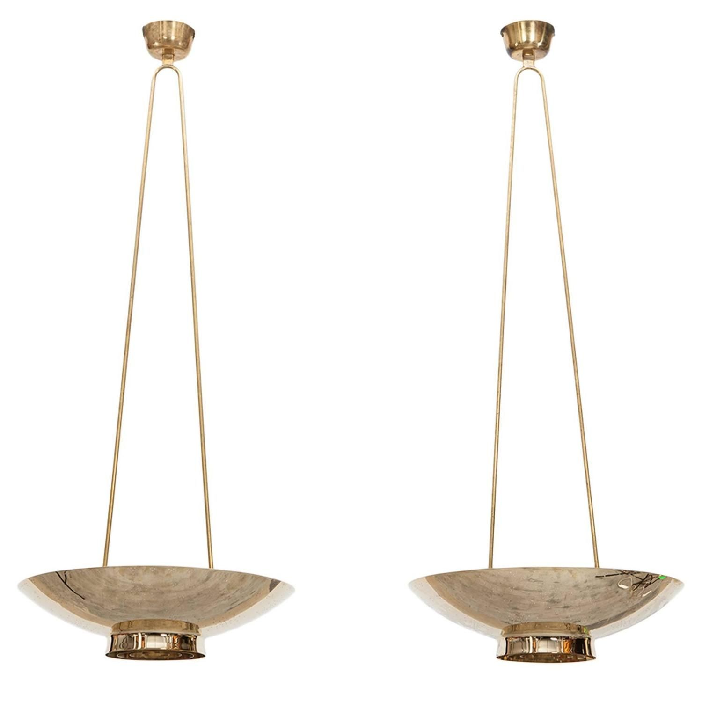 Pair of paavo tynell pendant lamps pendant lamps pendant lighting