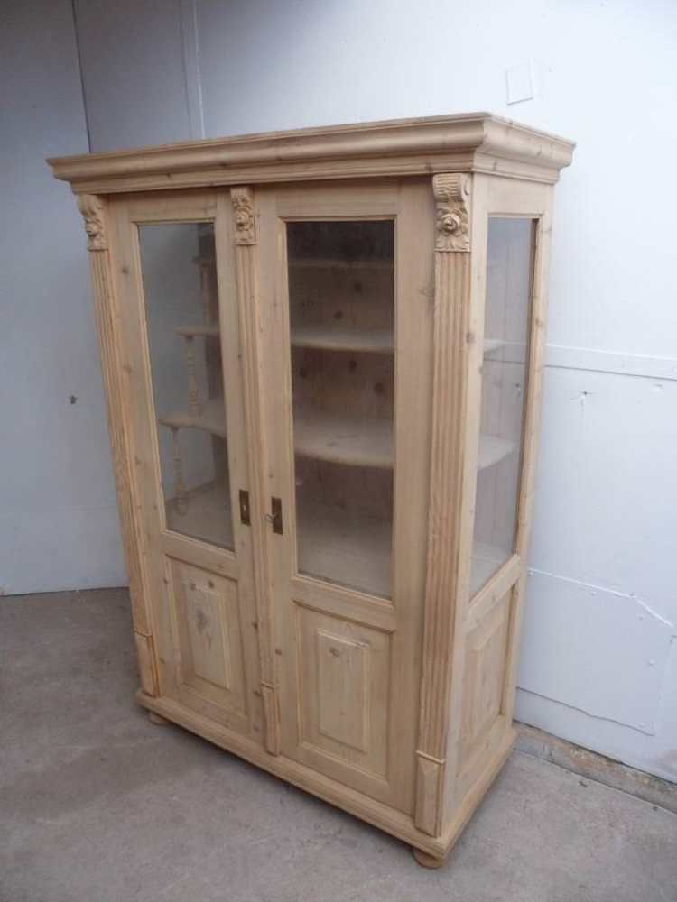 A Totally Amazing Early Victorian Antique/Old Pine Display Cabinet to Wax  /Paint - A Totally Amazing Early Victorian Antique/Old Pine Display Cabinet