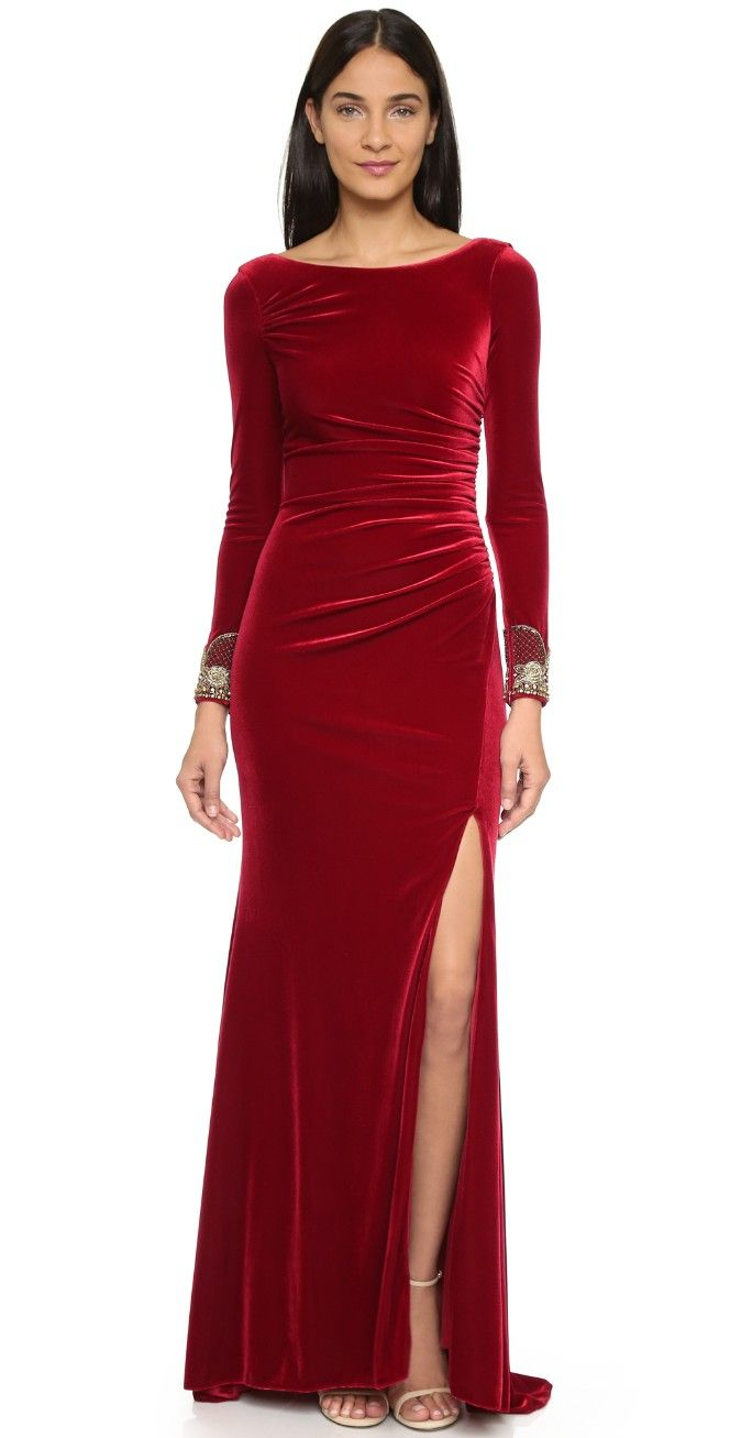 Badgley Mischka Collection Velvet Long Sleeve Dress Bop Save Up To 25 Use Code Event17
