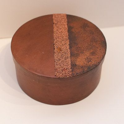 Round Decorative Boxes Pleasing Large Round Copper Decorative Paper Machemixedmediadesigns1 Design Ideas