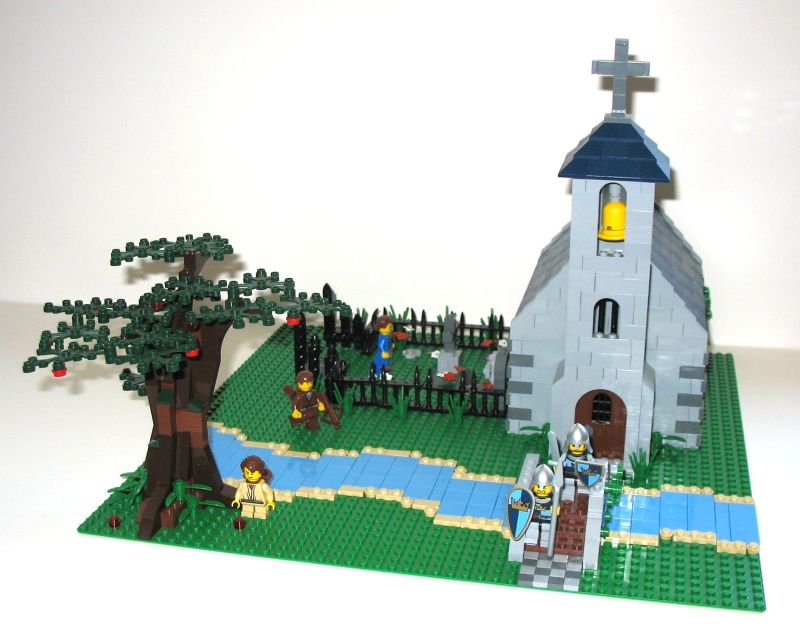 Lego medieval church | Medieval Church Diorama