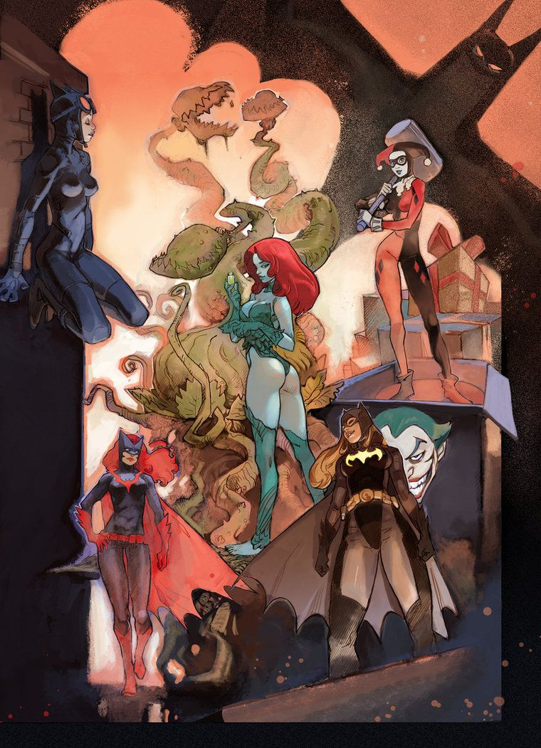 gotham girls by *joel27 -- I LOVE THAT THIS HAS BATWOMAN IN IT!!