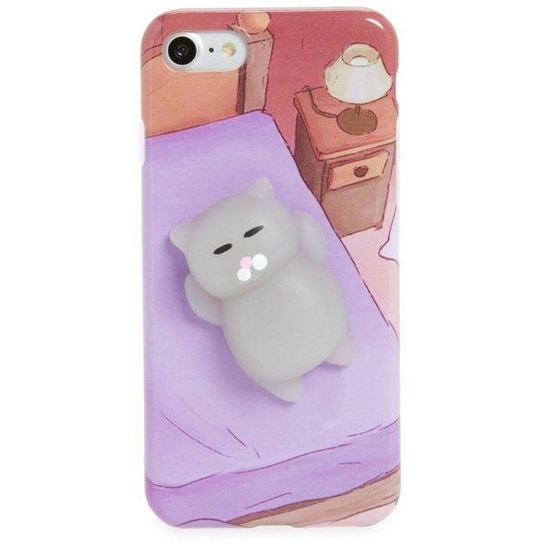 Women s La Double 7 Squishy 3D Cat Iphone 7 Case (15 CAD) ❤ liked ... cf580914e2