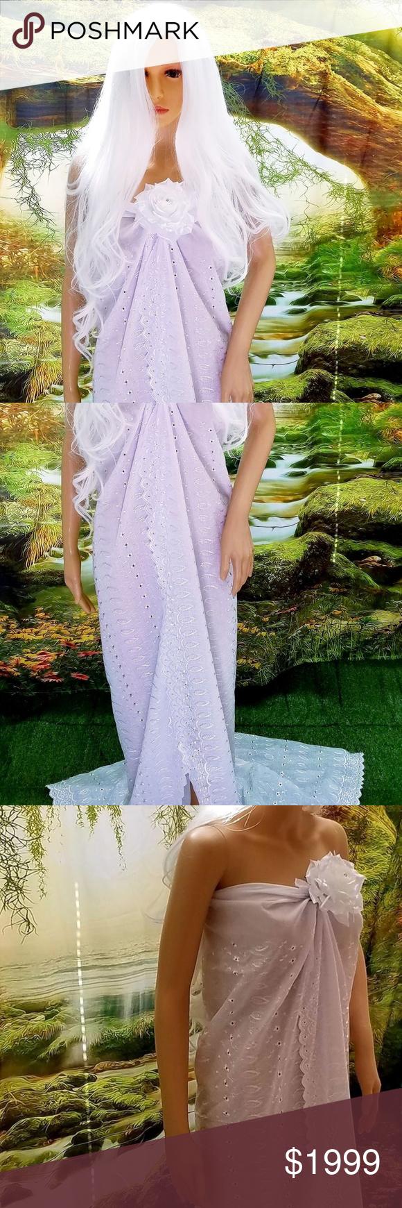Eyelet wedding dress  White Eyelet Strapless Sheath Bridal Wedding Gown NWT  My Posh