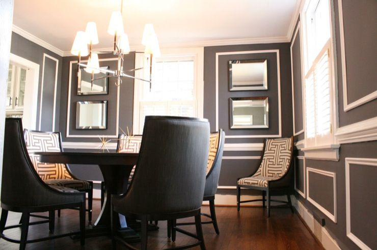 Nest Decor Kenneth Byrd Design  A Barrage Of Picture Moldings Amusing Charcoal Dining Room Decorating Design