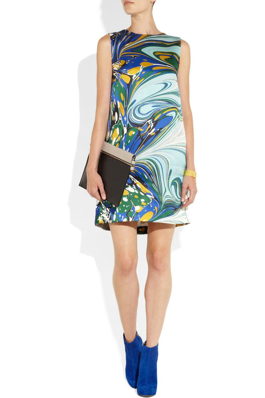 Barton printed silk-satin dress | Stella McCartney | THE OUTNET