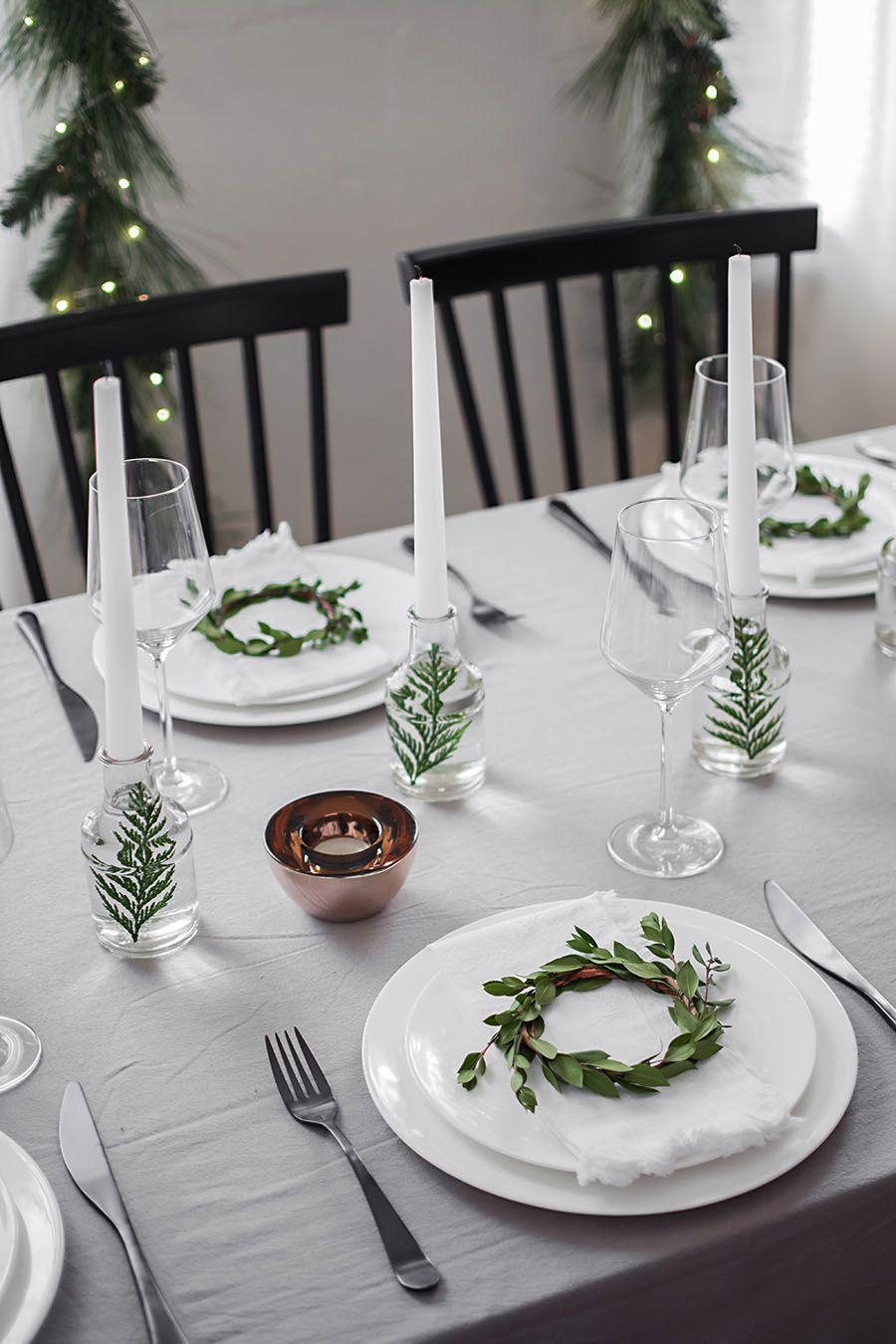 Modern Christmas Table Christmas Table Christmas Table Decorations Modern Christmas