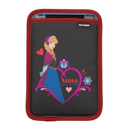 Anna Listen to Your Heart Sleeve For iPad Mini Disney
