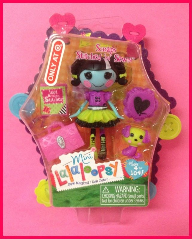 Scraps Stitched N Sewn Halloween Lalaloopsy Mini Doll New in Package