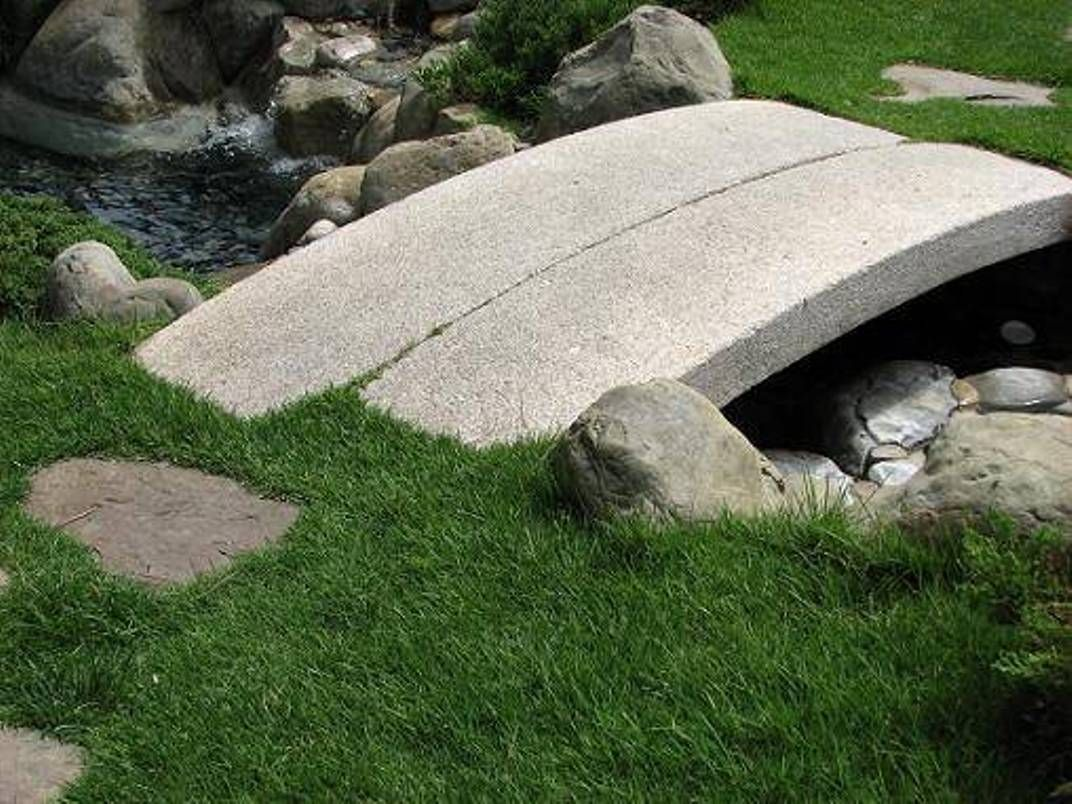 Garden And Lawn , Japanese Garden Bridge : Stone Japanese Garden Bridge