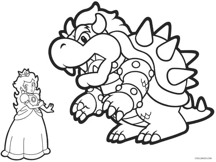 Princess Peach Coloring Pages Coloring Pages