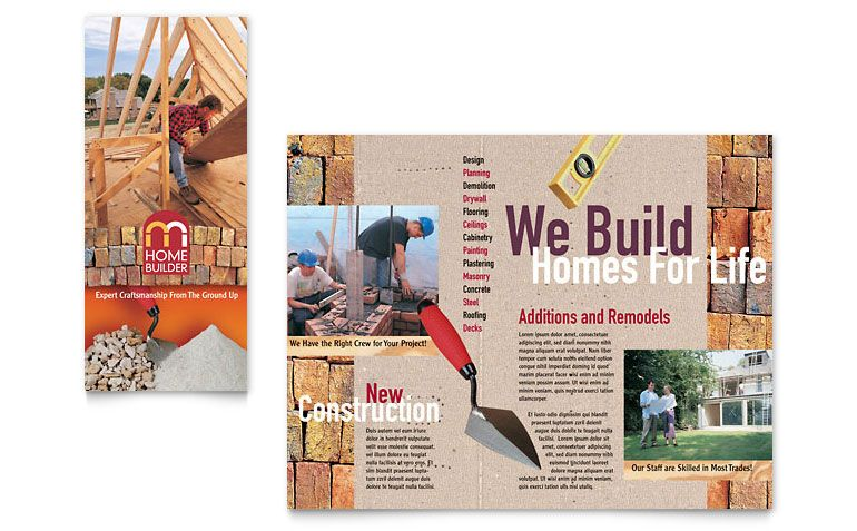 Home builder contractor brochure template design bold home builder contractor brochure template design yadclub