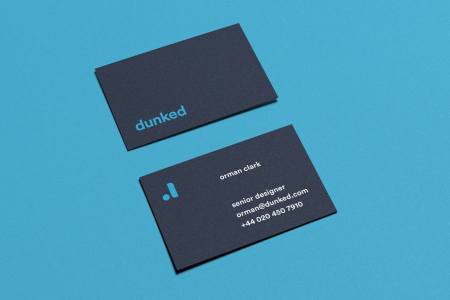 Business Cards Designed By Mast For Dunked Clever Business Cards Unique Business Cards Business Card Inspiration