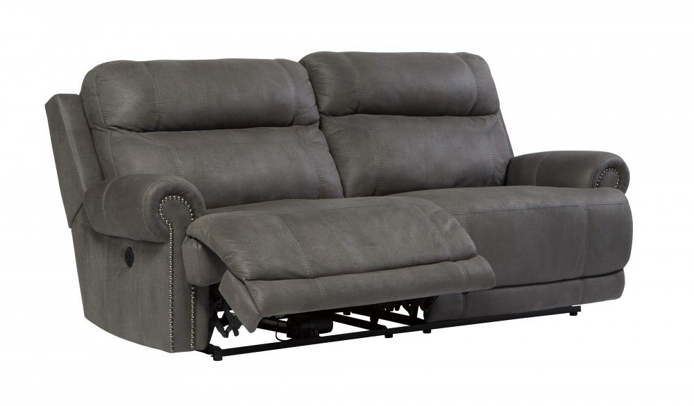 Austere Gray 2 Seat Reclining Sofa 3840181 Reclining Sofas The Furniture Gallery Grey Reclining Sofa Leather Reclining Sofa