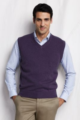 Men's Cashmere Sweater Vest from Lands' End, $168. | Husband ...