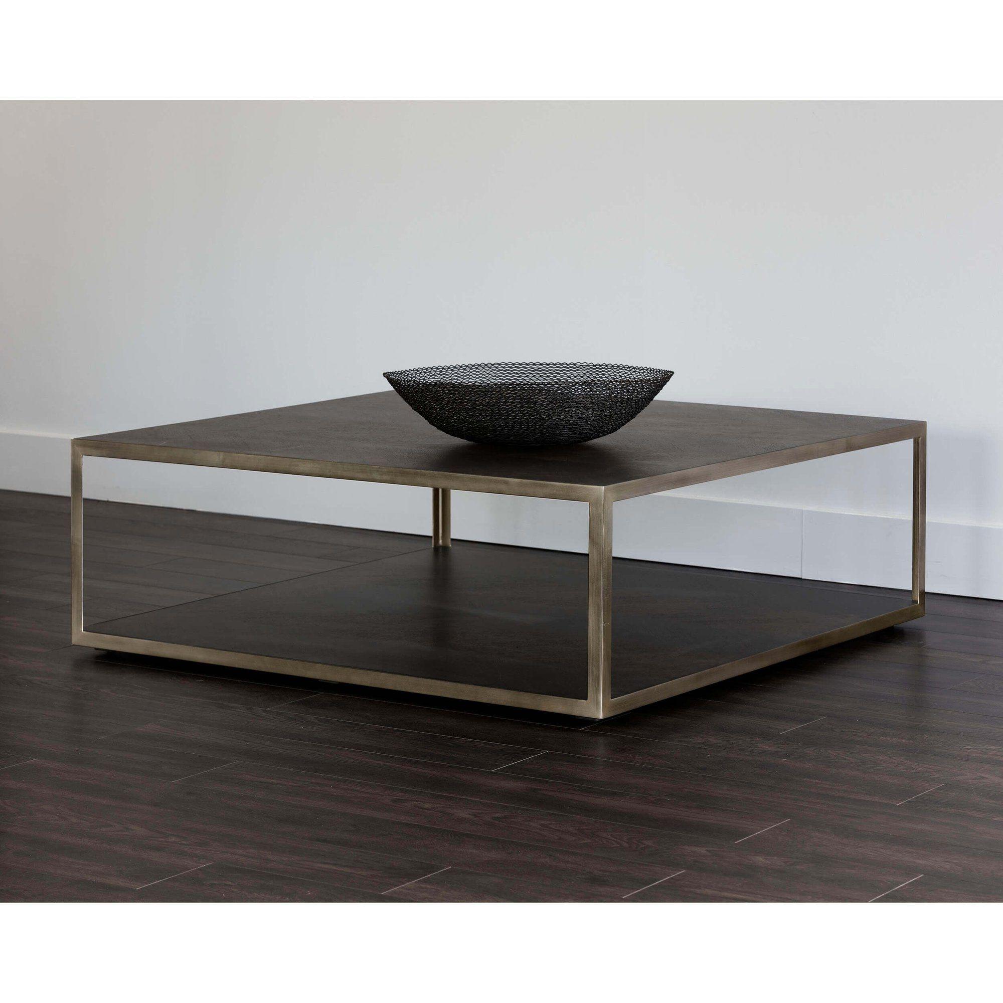 Mara Coffee Table Square Smoked Mocha Large Square Coffee Table Coffee Table Coffee Table Square [ 2000 x 2000 Pixel ]