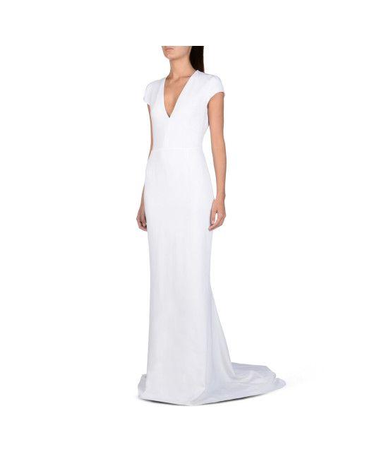 Stella Mccartney White Avril Dress Lyst Kkt Wedding Dresses