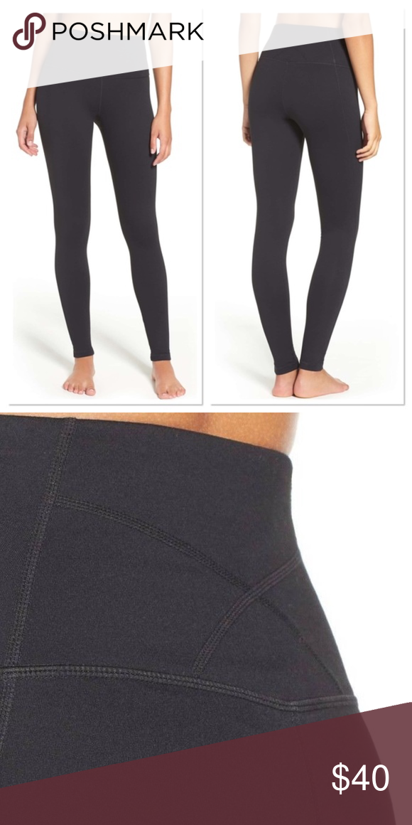 8c03948f4eb8d ZELLA 'Live In' Black Slim Fit High Waist Leggings Moisture-wicking  construction keeps