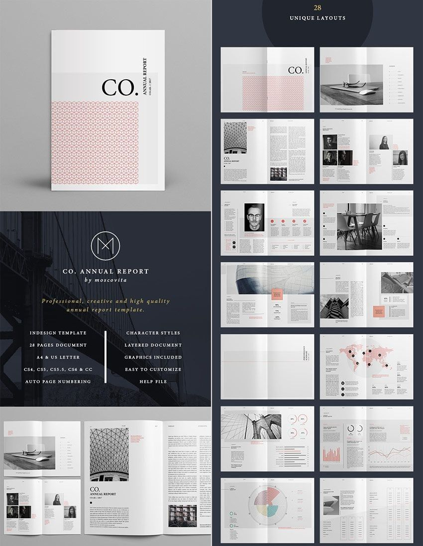 Co Minimal Annual Report Indesign Template Design Design Report For Free Indesign Report Templates Indesign Layout Indesign Templates Report Design Template